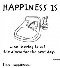 Happiness Is Meme - happiness is not having to set the alarm for the next day memescom