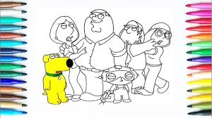 how to draw family guy drawing and coloring pages for kids art