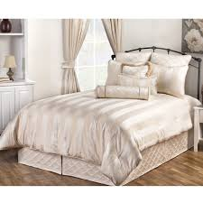 Striped Comforter Marquis Stripe Ivory Bedding