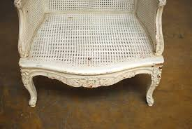 Cane Rocking Chairs For Sale Louis Xv Cane Wingback Bergere Chair