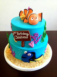 nemo cake toppers nemo cake buttercream with marshmallow fondant details and