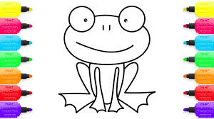 coloring for childrens tropical frog how to draw animals