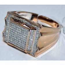 rings mens diamond images Mens diamond ring rose gold 0 58ct real diamonds wedding pinky jpg