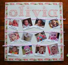 gift of the month ideas diy birthday gift month by month photo frame www