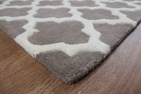 artisan designer thick wool rugs 01 taupe martin phillips