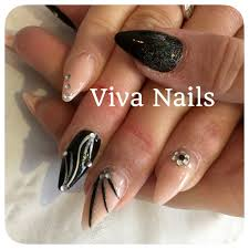 almond acrylic acrylicnails nails black nailart