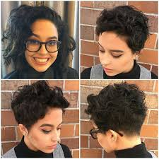 pixie cut with undercut for thick curly hair pixie cuts