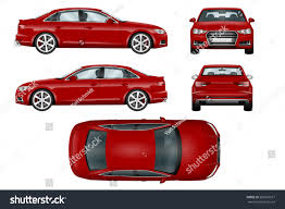 cartoon sports car side view red sport car vector template ability stock vector 560516677