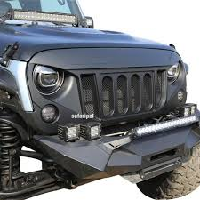 jeep wrangler front grill safaripal front grille six slots bold for jeep wrangler jk rubicon