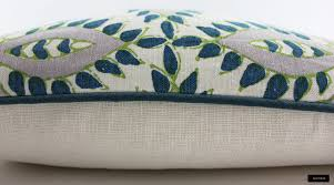 john robshaw diba peacock cushions with contrasting welting