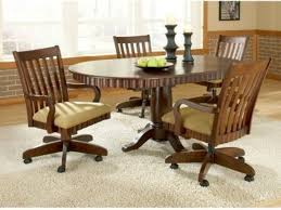Dining Room Chairs With Wheels Popular Dining Room Chair Casters - Caster dining room chairs