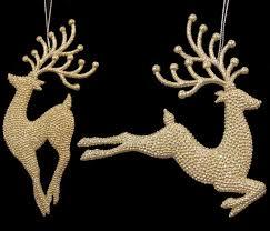reindeer ornaments pack of 12 seasons of elegance gold glitter reindeer christmas