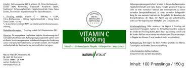 si e de pellet natura vitalis vitamin c 1000mg 100 presslinge 100 pellets