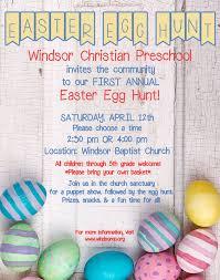 upcoming events 2014 easter egg hunt windsor christian preschool