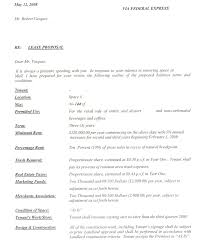 restaurant ample letter of intent
