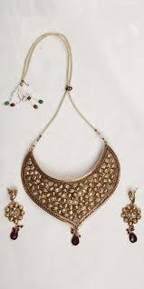 gold choker necklace set images Buy designer necklace sets antique finish gold choker necklace set jpg