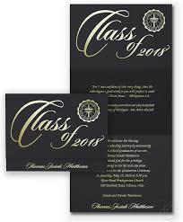 name cards for graduation announcements black graduation announcements with gold or silver foil