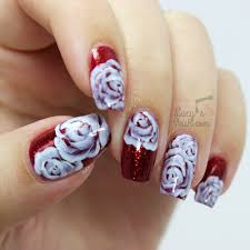 nail art rose artail salon for girlsblue artblack arteasy artnail