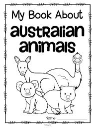 australian animals activity printables preschool