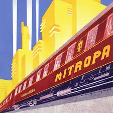 mitropa german art deco railway carriages and posters retours