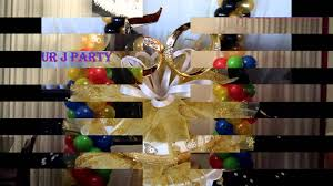 party rental 50th anniversary balloons decorations youtube