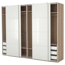 natural polished maple wood wardrobe closet organizer with sliding