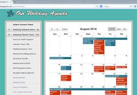 wedding planner agenda our wedding planner tools wedding planner calendar event organizer