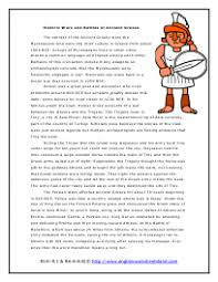ancient greece reading comprehension worksheets