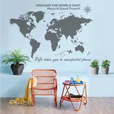 Amazon Com Dandelion Wall Decals by Amazon Com Higoss Large World Map Wall Decal With Compass Travel