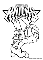 basketball coloring pages nba new york knicks nba coloring pages