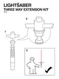 ikea manual for lightsaber extension kit geek pinterest