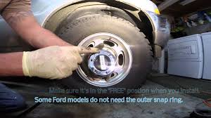 warn locking hub swap ford f250 youtube