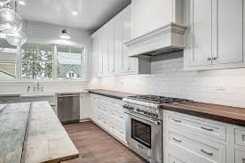 kitchen with white cabinets and wood countertops kitchen countertop ideas with white cabinets designing idea