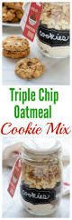 triple chip oatmeal cookie mix in a jar recipe jars sweet and