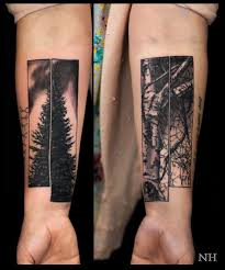 another creative idea with these two tree tattoos by nicholas hart