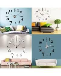 amazing deal on diy large 3d frameless wall clock estink modern