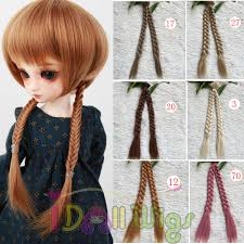 gray hair pieces for american diy braid hair extension synthetic hair piece for bjd sd bly the