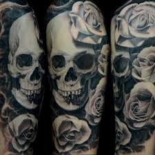 insanely amazing black and gray skull and by jose