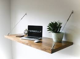 Modern Wall Desk Industrial Desk Hanging Wall Desk
