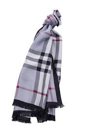 burberry silk scarf in blue red and white