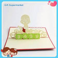 newborn baby boy handmade invitation cards 3d pop up boy greeting