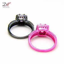 red gold rings images Wholesale turkish wedding rings finger rings women zircon black jpg
