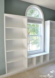 Build Wooden Bookcase by Diy Built In Bookshelves Window Seat Building Plans Window