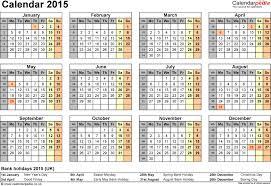 100 printable 2015 monthly calendar template calendar