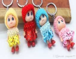 baby keychains 2018 hat plush doll baby keychains korean version of new fashion