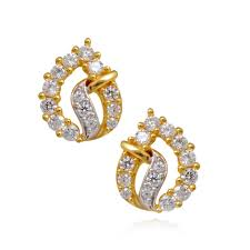 earing image earrings beautifull charming studded gold earring grt