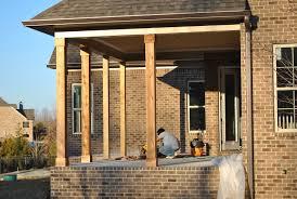 wood porch posts lowes home design ideas
