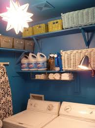 Laundry Room Wall Storage Outstanding Remodelaholic Colorful Blue Laundry Room Makeover For