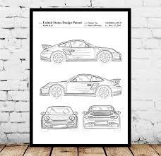 Porsche Patent Porsche Poster Porsche Print Porsche Art