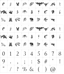 tribal animals tattoo designs font download